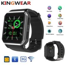KingWear KW06 3g Smartwatch Android 5,1 MTK6580 8 GB Встроенная память IP68 Водонепроницаемый Сидячий напоминание удаленного Камера монитор сердечного ритма