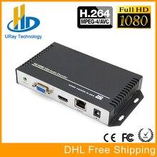 DHL Livraison Gratuite H.264 H264 HDMI VGA HD Vidéo Audio Décodeur IP Streaming Décodeur RTSP RTMP UDP HLS Caméra IP À IP récepteur