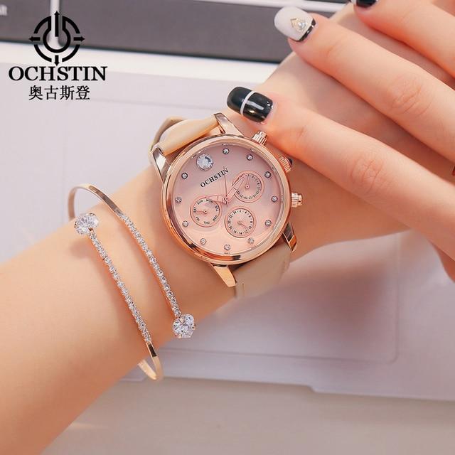 feaa1bc214a Mulheres Relógio Pulseira de Relógio Relogio feminino Moda Top Marca de Luxo  Diamante Relógio de Pulso