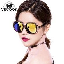 VEGOOS New Fashion Polarized Women Sunglasses Female Large Round Frame Brand Designer Retro Sun Glasses Woman  Eyewear#9087