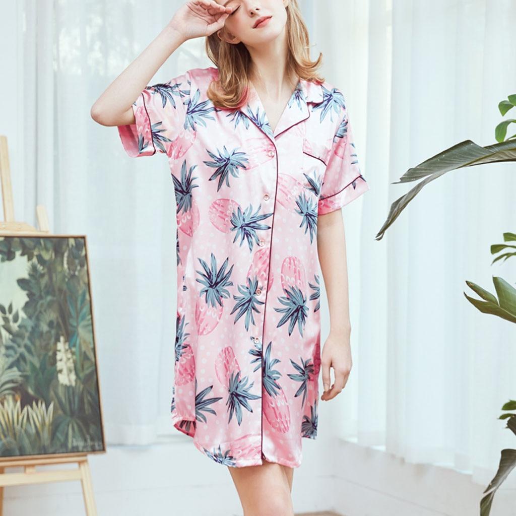 sexy sleepwear Woman Summer Sleepwear Sexy Home   Nightgowns     Sleepshirts   sexy sleepwear for women sleepwear women set