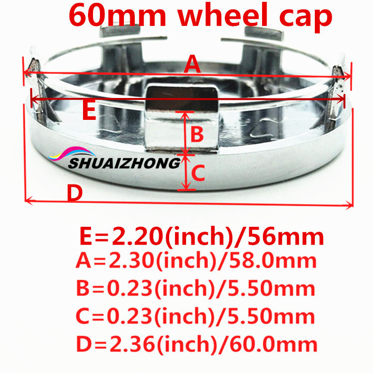 Image 4 - LADA Car Wheel Center Hub Cap Badge Sticker car wheel Dust proof covers 3d logo Decal car styling accessories 4pcs 56.5/56/60mm-in Wheel Center Caps from Automobiles & Motorcycles
