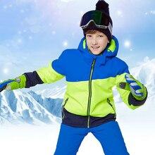Winter Boy Ski Suit Waterproof Outdoor Snowboard Jacket Kids Skiing Set Terno Skis Roupa De Warm And Windproof
