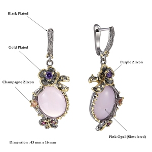 Image 5 - DreamCarnival 1989 Hot Pick Drop Earrings for Women Wedding Party Dangle Earings Pink Opal Stone Fashion Accessories Gift WE3878