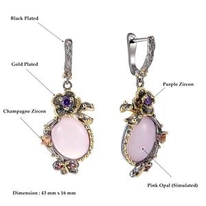 Image 5 - DreamCarnival 1989 Hot Pick Drop kolczyki dla kobiet Wedding Party dynda kolczyki różowy Opal kamień akcesoria mody prezent WE3878