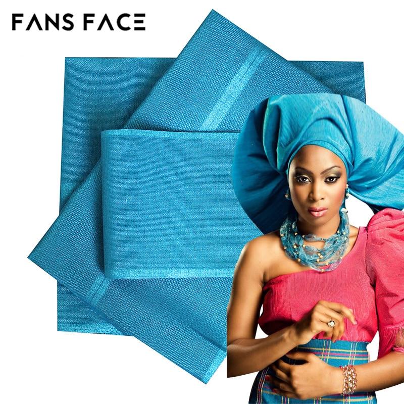 Afrika kadın Aso Oke Headtie Polyester Kumaş Kolayca Deforme Değil - Ulusal Kıyafetler - Fotoğraf 1