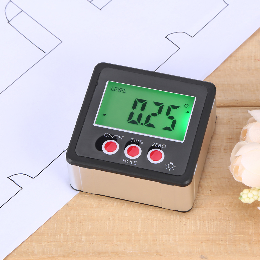 caixa chanfrada inclinômetro eletrônico transferidor goniômetro ângulo finder nível magnético