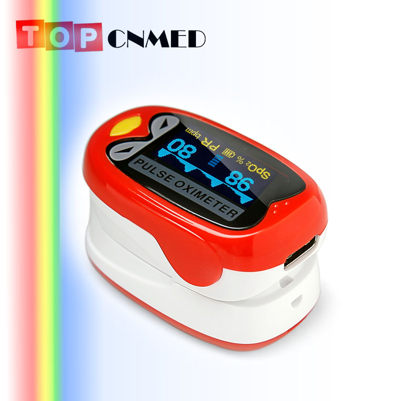 OLED Pediatric Pulse oximeter  for Child Kids 1-12 years old  SPO2 Blood Oxygen Monitor with Rechargeable Battery Two Colors elera portable finger pulse oximeter spo2 pr odi4 pi fingertip oximetro de pulso de dedo blood oxygen saturometro