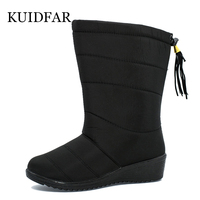 2017 Winter Boots With Velvet Snow Boots In The Slope With Warm Female Boots Waterproof Non