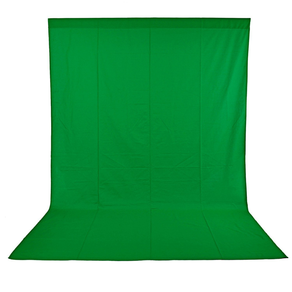 Neewer 9 x 15 feet/2.7 x 4.6M Green Chromakey Muslin Backdrop Background Screen+3 Clamps for Photo Video Studio Photography