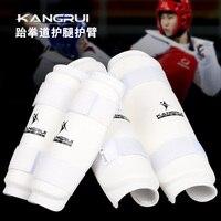New Adult Child Taekwondo Protector Shin Foot Guards Kickboxing WTF Approved MMA Sanda Protection Material Arts