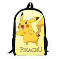 Anime Character Mario Sonic Pikachu Printing Backpack For Teenagers Boys Girls School Bags Pokemon School Backpacks Kid Gift Bag