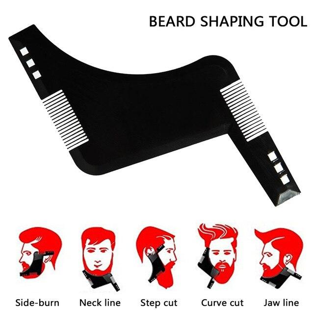 Peigne à lisser la barbe outil de mise en forme de la barbe peigne de coupe de cheveux Guide de gabarit pour le rasage ou le pochoir peigne brosse à cheveux peigne