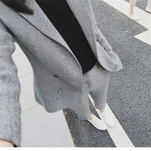 2018 Fashion Style OL Elegant Ladies' suit Formal suit Dress full set of double-breasted women's suit jacket Ultra-thin jacket