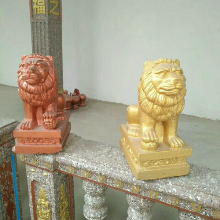 35cm/13.78in Classic European Style Durable Home Gardening/ Balcony Lion ABS Plastic Concrete PAIR Mold Male &Female Statue Set