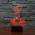 7 color Holiday Atmosphere Decorative Kids gift Super Bowl 3D Ilusion Lamp Light  LED Night Light