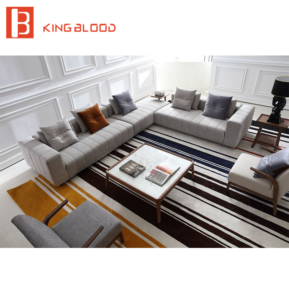 Buy corner linen upholstery l shape for Living room set with chaise