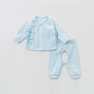 Image 3 - DBH9992 dave bella, primavera Otoño, peleles para niños y niñas, conjuntos de ropa para niño, monos de algodón para bebé