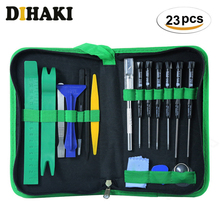 23 in 1 Mobile Phone Screwdriver Tool Set with Storage bag Electronic Bits Mobile Cell Phone opening Repair kit Hand Tools Set