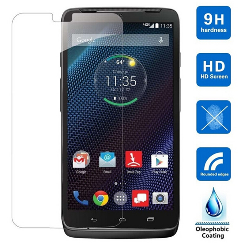 Premium Tempered Glass For Motorola Droid Turbo XT1254 Maxx XT1225 Screen Protector 9H Toughened Protective Film image