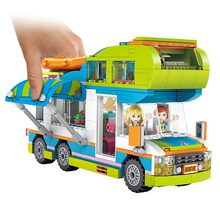 534pcs Outing Camper Bus Car Building Blocks