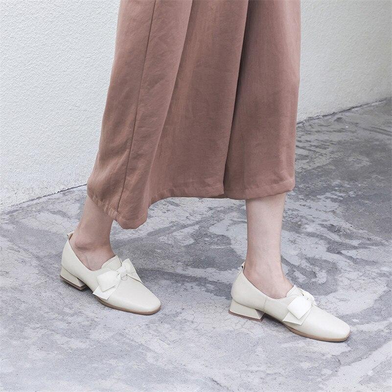 blanc Partie Conasco Bureau Noeud Véritable Papillon De Cuir Élégant Mode Marque Chaussures Femmes gris En Printemps Automne Base Femme Noir Pompes q4A3Rj5L