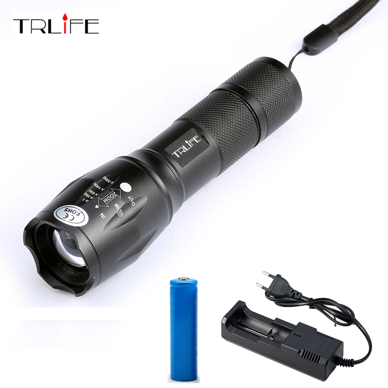 LED L T6 Flashlight 8000Lumens Torch 5modes Tactical Flashlight Zoomable Flash Light With USB Battery Charger led l t6 flashlight 8000lumens torch 5modes tactical flashlight zoomable flash light with usb battery charger