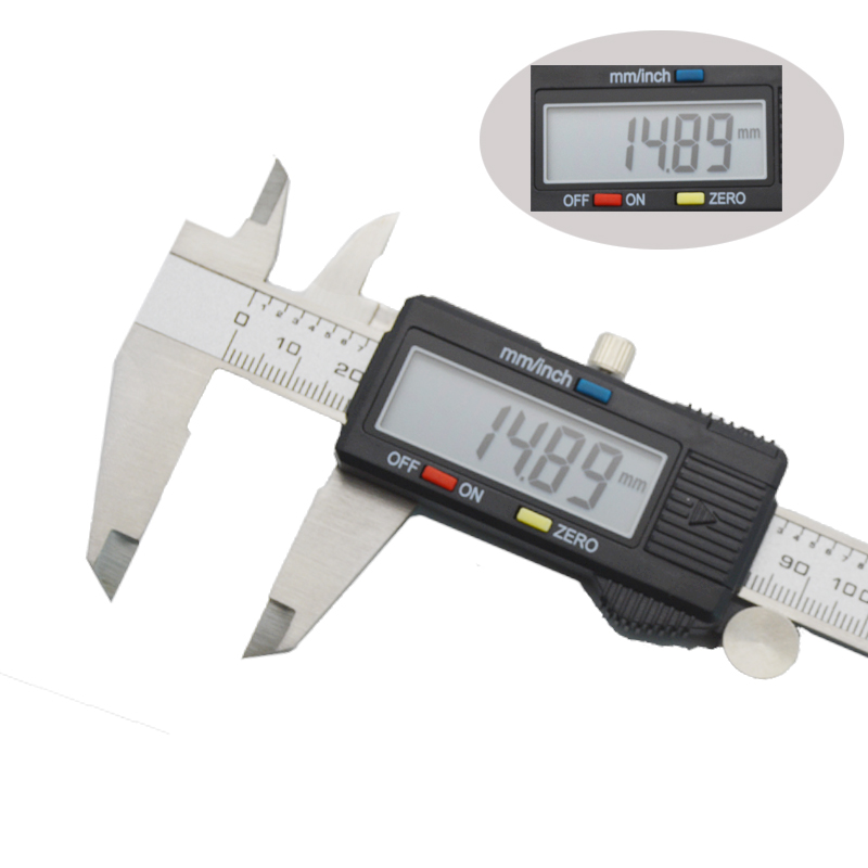 Digital Electronic Vernier Caliper Micrometer 150mm 6' LCD Display Widescreen Stainless Steel Metal Caliper Depth Measuring Tool