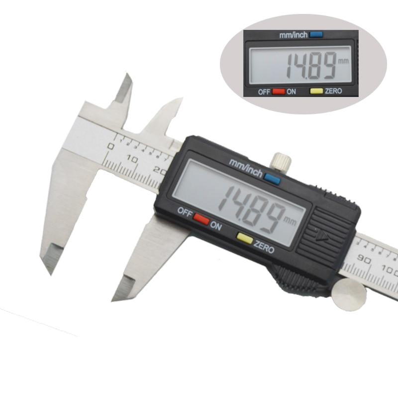 Digital electronic vernier caliper micrometer 150mm 6' LCD display Widescreen Stainless steel metal caliper Depth measuring tool-in Calipers from Tools