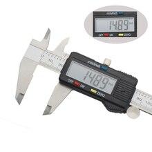 Elettronico digitale compasso a nonio di micrometro 150 millimetri display LCD Widescreen del metallo In acciaio Inox caliper Profondità strumento di misura