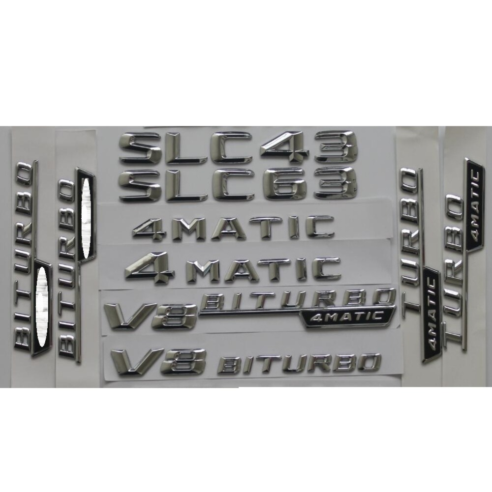 """Chrome Shiny /"""" quattro /"""" ABS Number Letters Trunk Emblem Badge Sticker for Audi"""