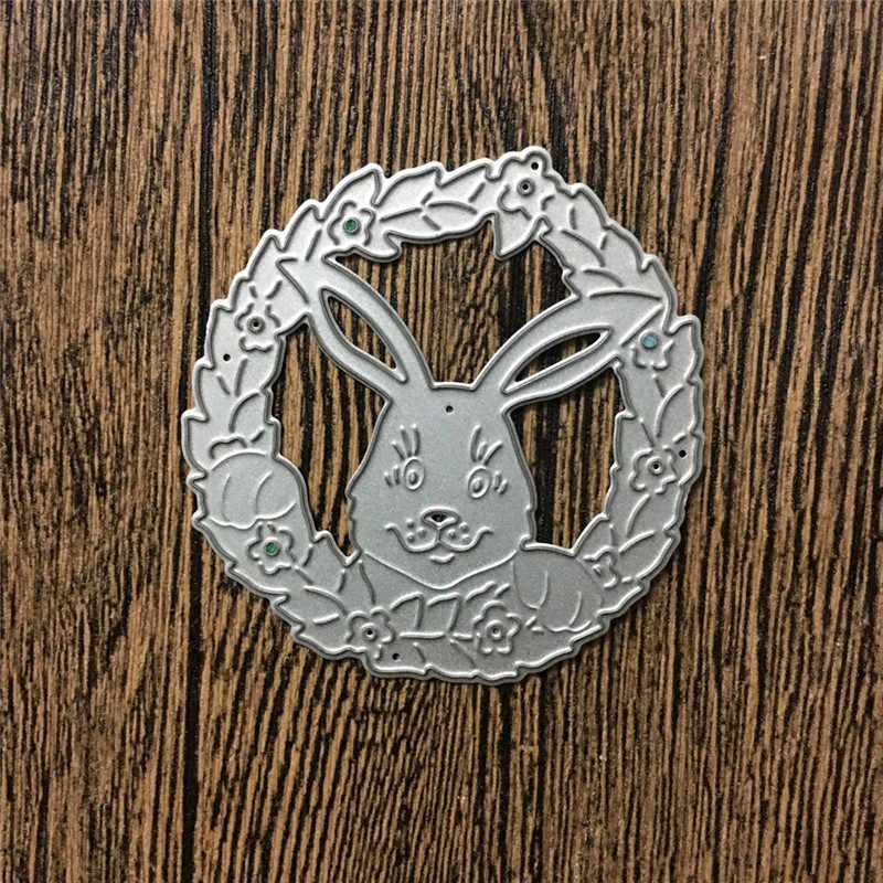 Rabbit Photo Frame Metal Cutting Dies Stencils for DIY Scrapbooking/photo album Decorative Embossing DIY Paper Cards