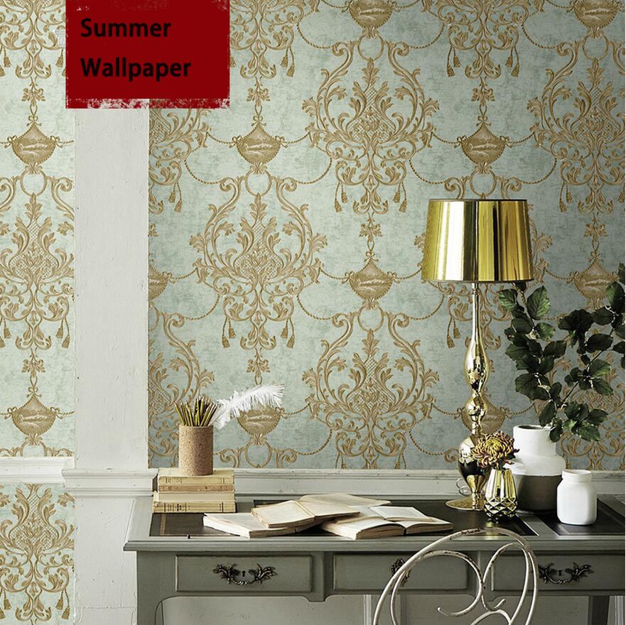 Emboss 3d embroidery new arrive luxury non-woven super heavy wallpapers for backgound wall 931 emboss