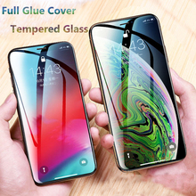 LISM For iPhone XS Max XR X 8 7 6 6s 7 8 Plus Full Glue Full Cover HD Clear Tempered Glass Plus Screen Protector