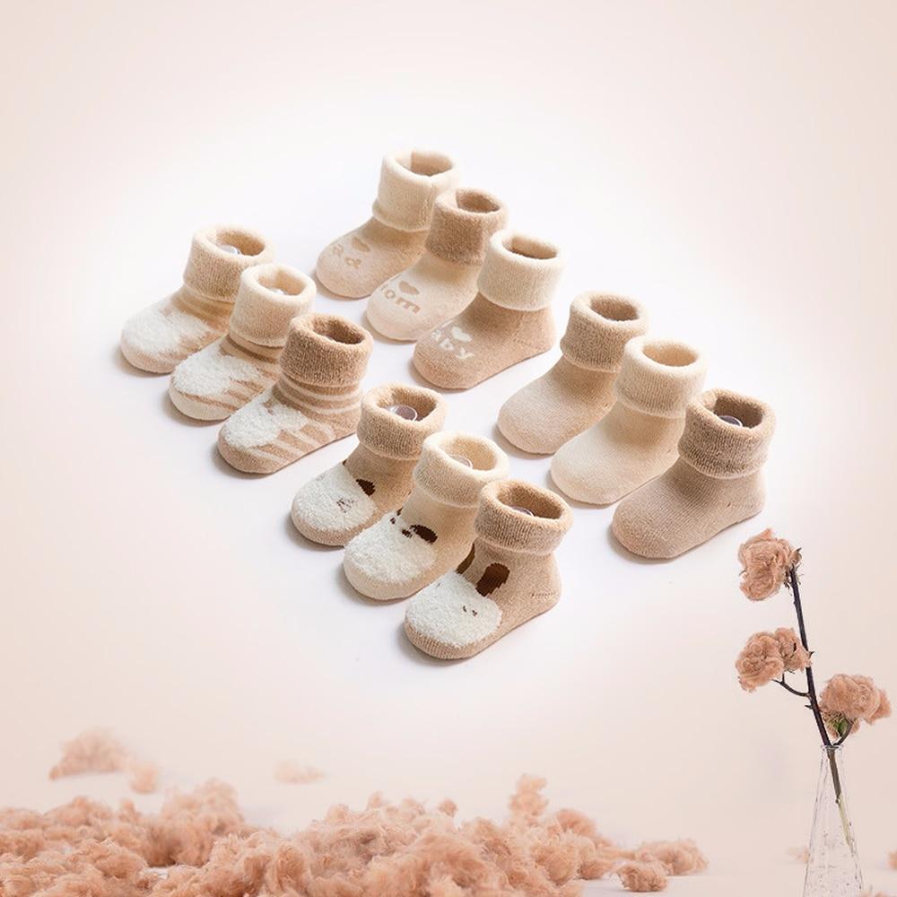 3 Pairs 0-3 Year Newborns Baby Cute Soft Cotton Thicken Warm Terry Socks For Toddler Autumn Winter Kids Infant Boys Girls Socks