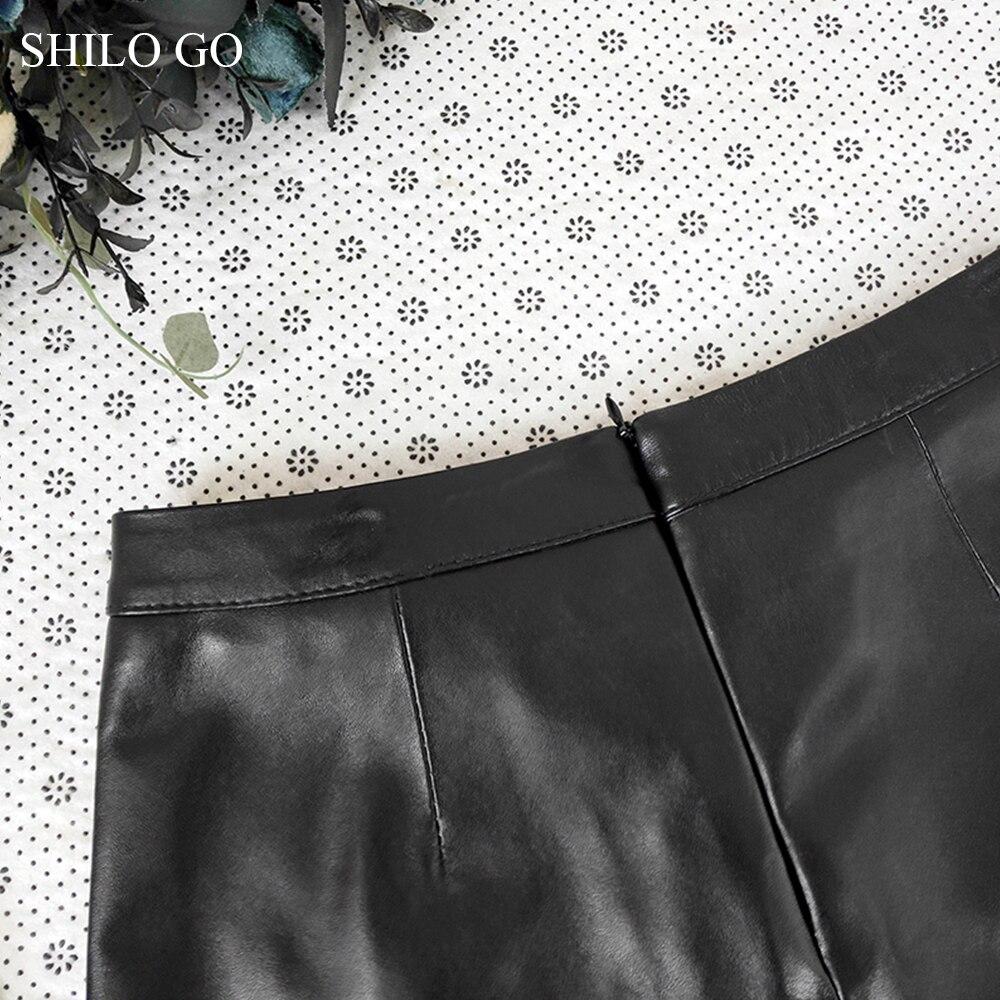 Shorts Cuir Véritable De Aller Peau Short Angleterre Boutonnage Mode Avant Double En Shilo D'été Mouton Concis Femmes qFRSata