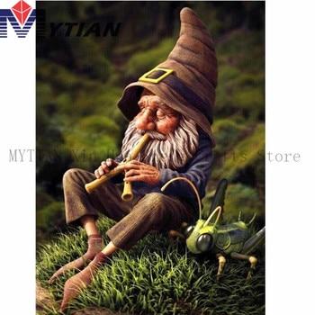 Mytian 5d Diy Elmas Nakış Küçük Yaşlı Adam Büyüleyici Gnome Elmas