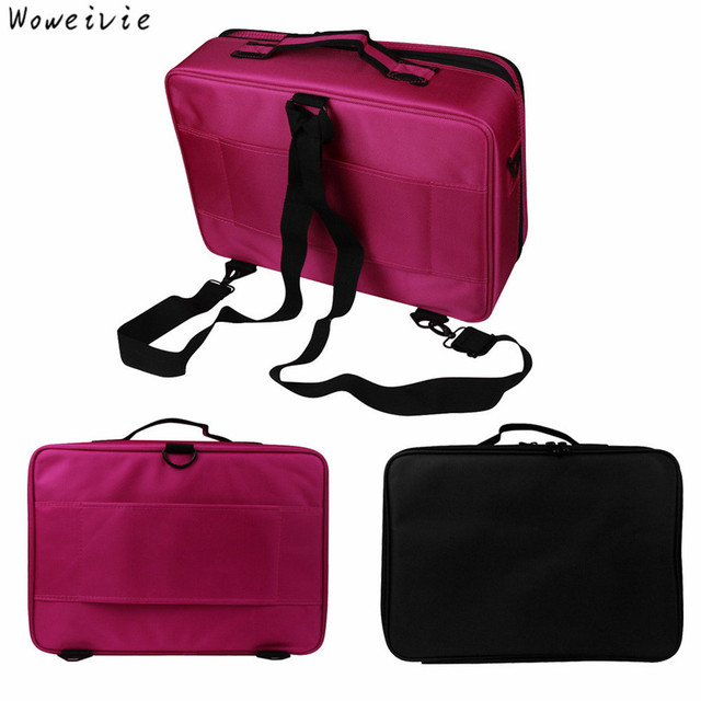 High-Quality Professional Makeup Bag Cosmetic Case Storage Handle Organizer Artist Travel Kit Free Shipping