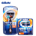 Genuine Gillette Fusion Proglide Flexball Shaving Razor Blades For Men Brands Shavers Safety Razor 1 Holder+5 Blades