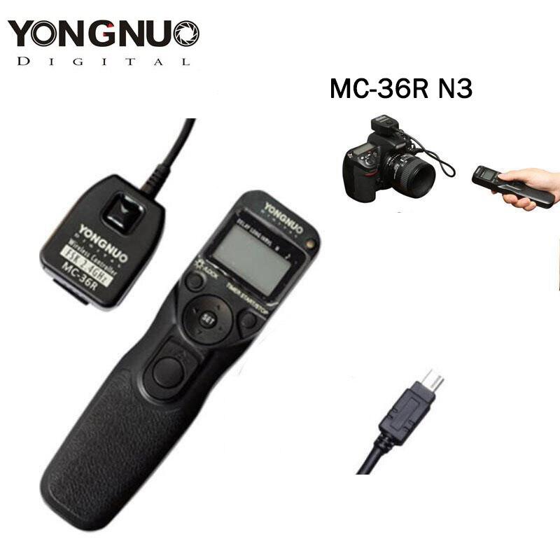 Yongnuo MC-36R N3 inalámbrico temporizador Disparador remoto para Nikon D7200 D7100 D7000 D5200 D5100 D5000 D3000 D90