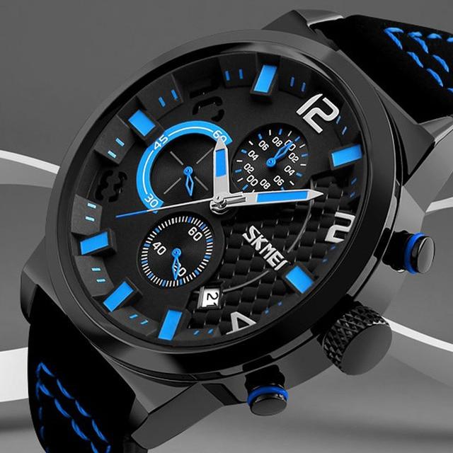 2017 skmei hombres superiores de la marca de moda casual relojes deportivos hombres de cuarzo resistente al agua reloj de hombre militar reloj relogio masculino