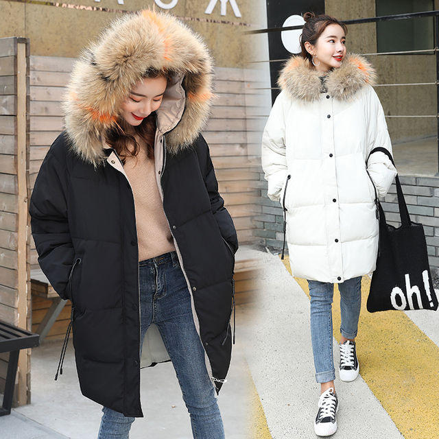Eastokes Ladies Winter high quality Solid Fashion Coats Women Outerwear Jackets Thick Warm Long Cotton Parka