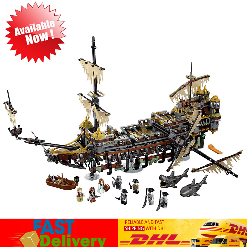 The Slient Mary Pirate Ship Model Building Blocks Bricks Toys for Children Christmas Gifts Compatible LegoINGlys 71042 lepin 16042 pirate ship series the slient mary boat set 2344pcs building block bricks children assembling toys gifts