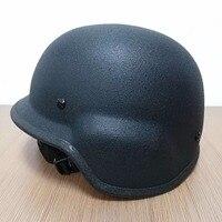 Free Shipping NIJ IIIA Black M88 Steel Bullet Proof Helmet Steel Helmet PASGT Steel Bulletproof Helmet