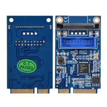 MINI PCI-E to 2Port USB 3.0 19 Pin Converter Adapter Desktops Extender Card Board For PC Desktop Computers vcard board allwinner a20 cpu mini card pc opensource platform for elp usb camera board