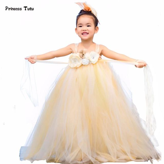 Promoción Vestido De Tutú Champán Para Niños Vestidos Tul
