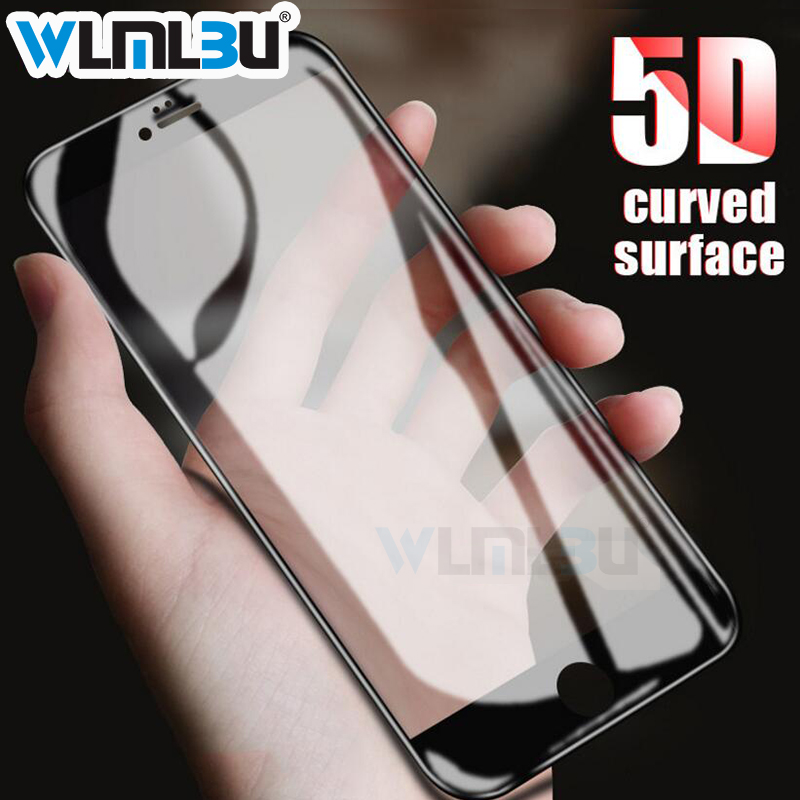 WLMLBU 5D Tempered Glass for iphone 7 glass 6s plus Screen Protector For iPhone 6 Glass  ...