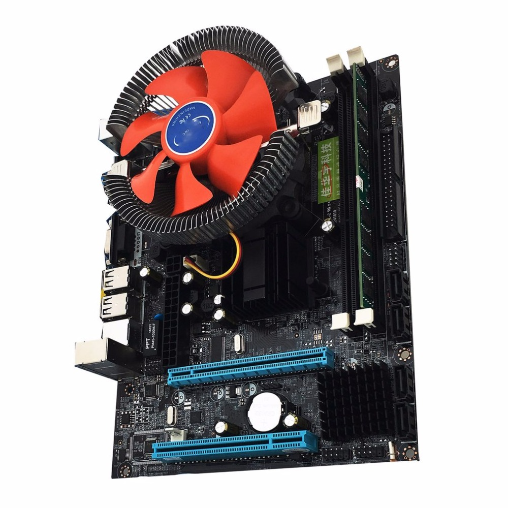 Intel LGA775 G41 novo desktop Desktop Board motherboard Quad-core E5430 Combo Set 2.66G CPU + 4G memória + Silencioso Ventilador Do Computador
