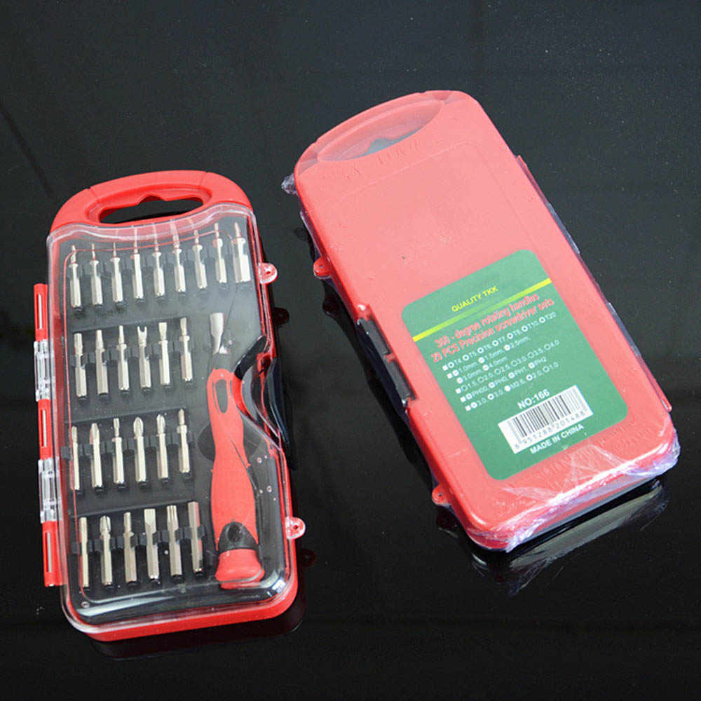 Juego de destornillador multifuncional 28 en 1 Kit de precisión Caja de Herramientas magnética portátil herramienta de reparación de teléfono móvil
