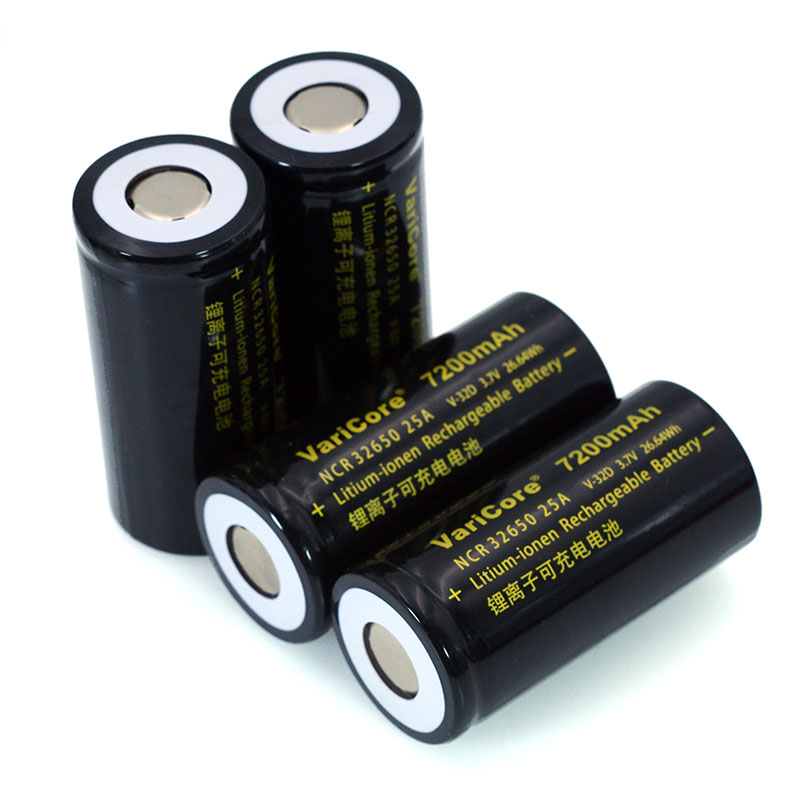 Image 4 - 6pcs/lot VariCore 3.7V 32650 7200mAh Li ion Rechargeable Battery 20A 25A Continuous Discharge Maximum 32A High power battery-in Replacement Batteries from Consumer Electronics